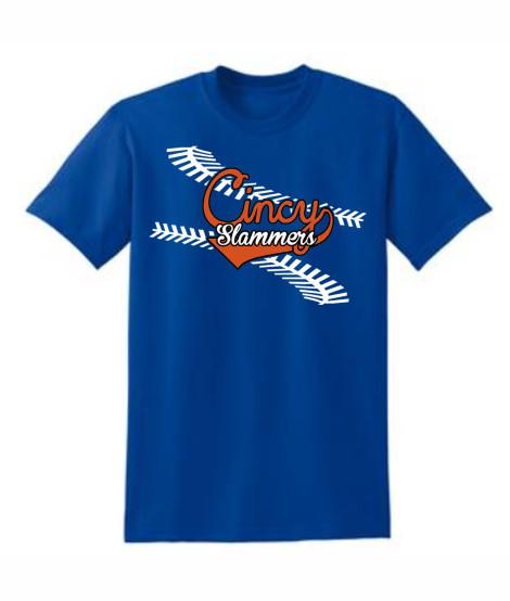 Cincy Slammers Royal Laces T-Shirt