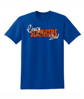 Cincy Slammers Royal Laced Letters T-Shirt for Dad