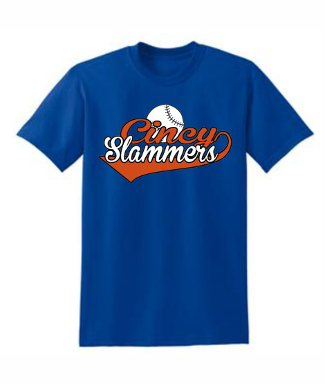 Cincy Slammers Royal Swoosh T-Shirt