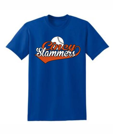 Cincy Slammers Royal Swoosh T-Shirt
