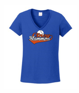Ladies Royal v-Neck Short Sleeve Swoosh