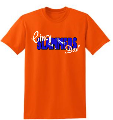 Cincy Slammers Orange Laced Letters T-Shirt for Dad