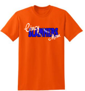 Cincy Slammers Orange Laced Letters T-Shirt for Mom