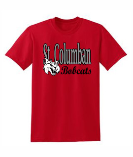St. Columban Bobcats v2 Red T-Shirt