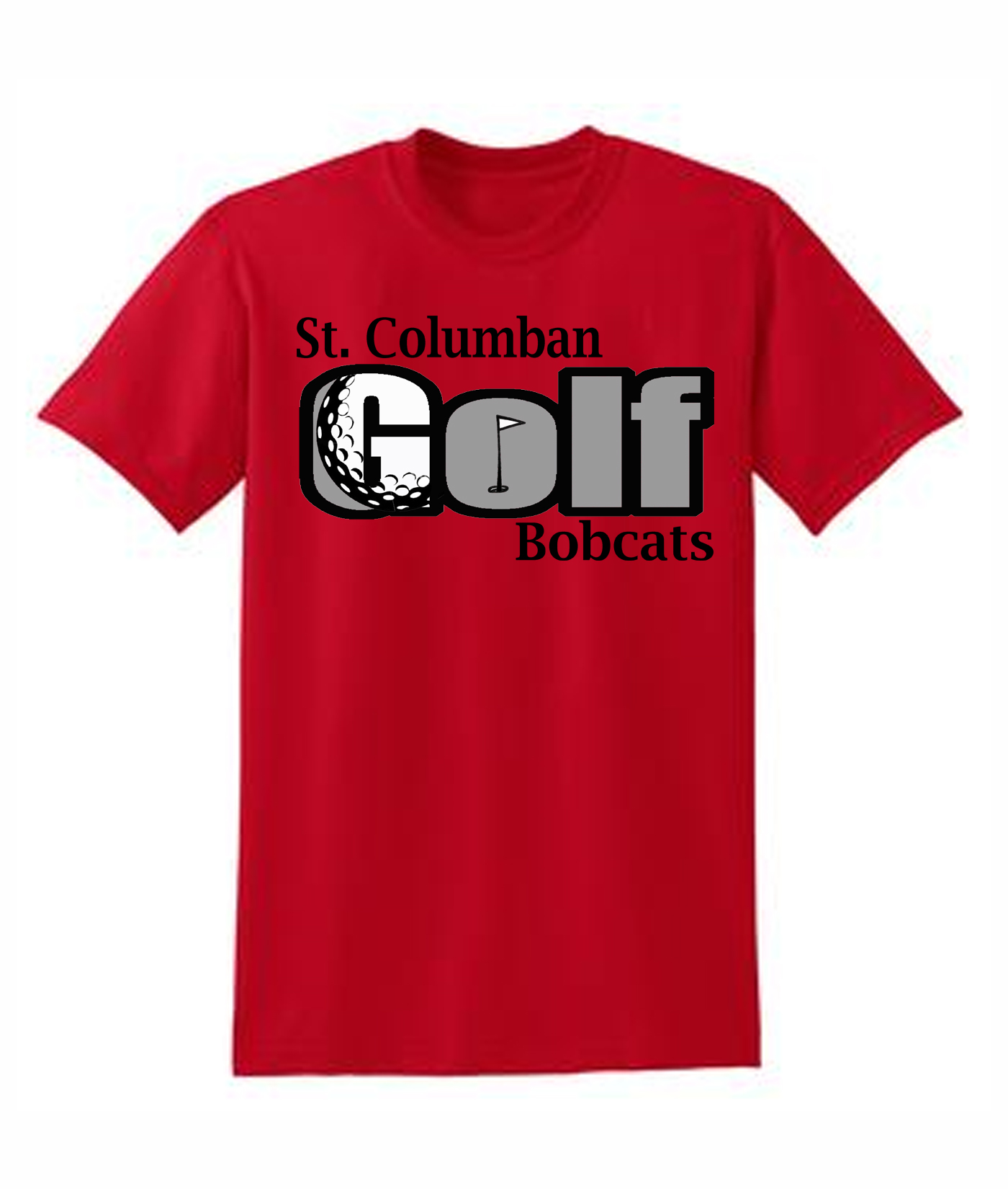 St. Columban Golf Red T-Shirt
