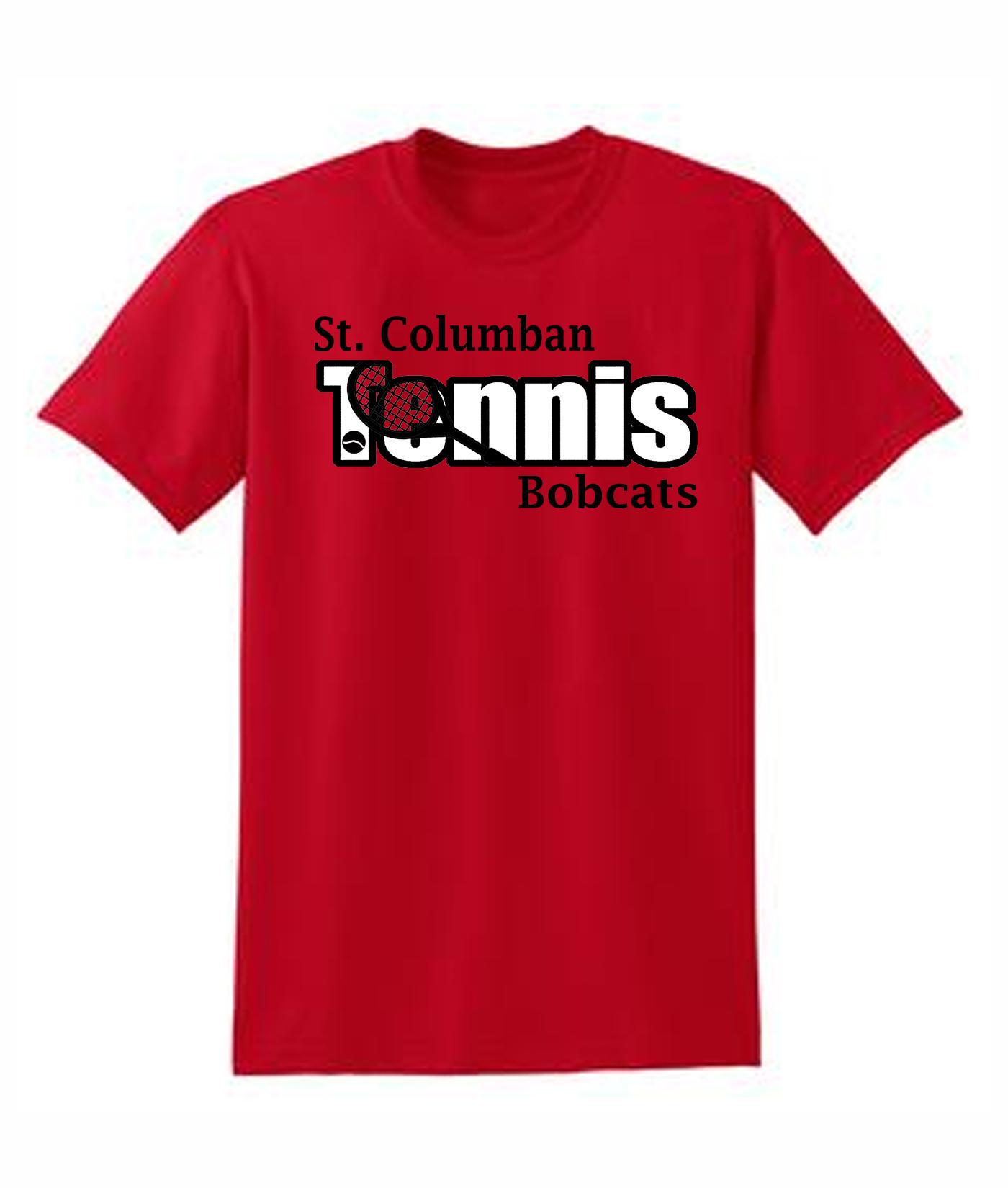 St. Columban Tennis Red T-Shirt