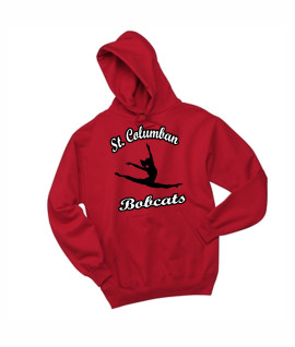 St. Columban Bobcats Dance Red Hoodie