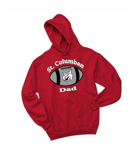 St. Columban Football Dad Red Hoodie