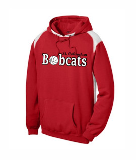 St. Columban Bobcats Basketball Red Multi Color Hoodie