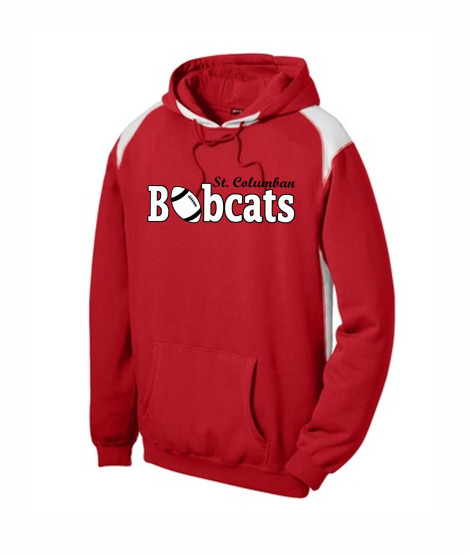 St. Columban Bobcats Football Red Multi Color Hoodie