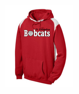 St. Columban Bobcats Cheer Red Multi Color Hoodie