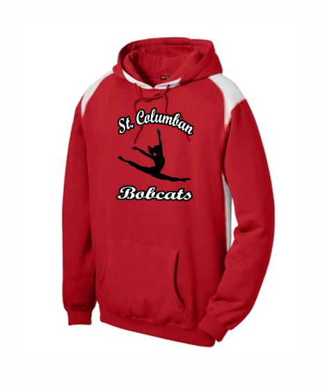 St. Columban Bobcats Dance Red Multi Color Hoodie