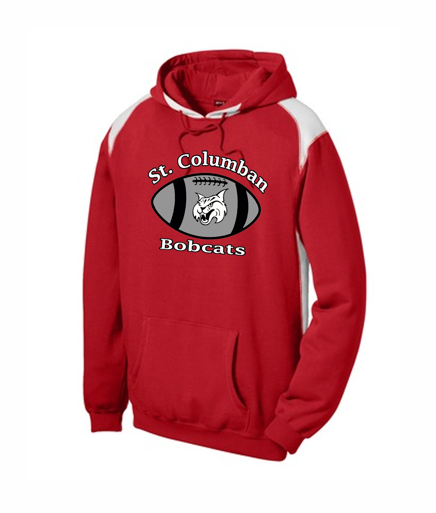 St. Columban Football Red Multi Color Hoodie