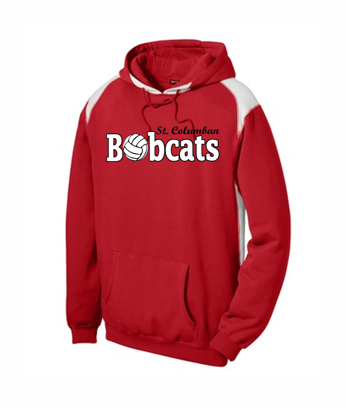 St. Columban Bobcats Volleyball Red Multi Color Hoodie