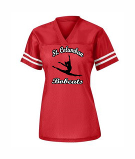 St. Columban Dance Ladies Jersey Red