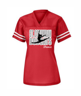 St. Columban Dance (in Words) Ladies Jersey Red