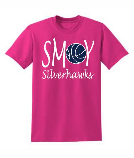 Gildan Basketball O Lucida Pink Tee