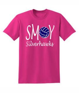 Gildan Volleyball O Lucida Pink Tee