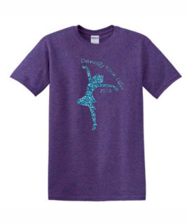 Gildan Dancify Dancer Blue Glitter Purple Tee