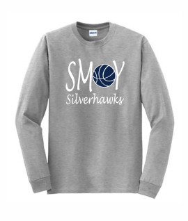 Gildan Basketball O Lucida Grey Long Sleeve Tee