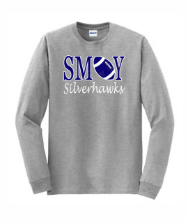 Gildan Football O Grey Long Sleeve Tee