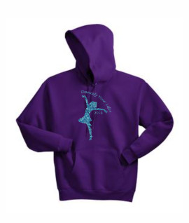 Hanes Dancify Dancer Blue Glitter Purple Hoodie