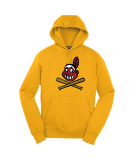 Sport-Tek Gold Pullover Hooded Sweatshirt Glitter Blackhawk