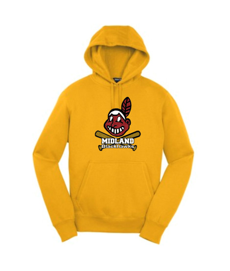 Sport-Tek Gold Pullover Hooded Sweatshirt Glitter Giant Blackhawk