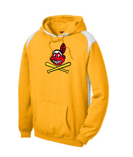 Sport-Tek Gold Pullover Hooded Sweatshirt with Contrast Color Blackhawk