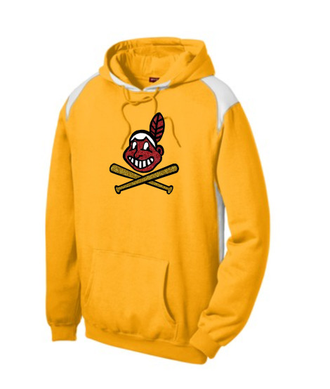 Sport-Tek Gold Pullover Hooded Sweatshirt with Contrast Color Glitter Blackhawk