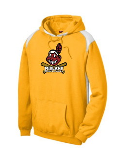 Sport-Tek Gold Pullover Hooded Sweatshirt with Contrast Color Glitter Giant Blackhawk