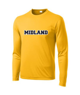 Sport-Tek Gold Long Sleeve PosiCharge Adult_Tall Competitor Tee Midland