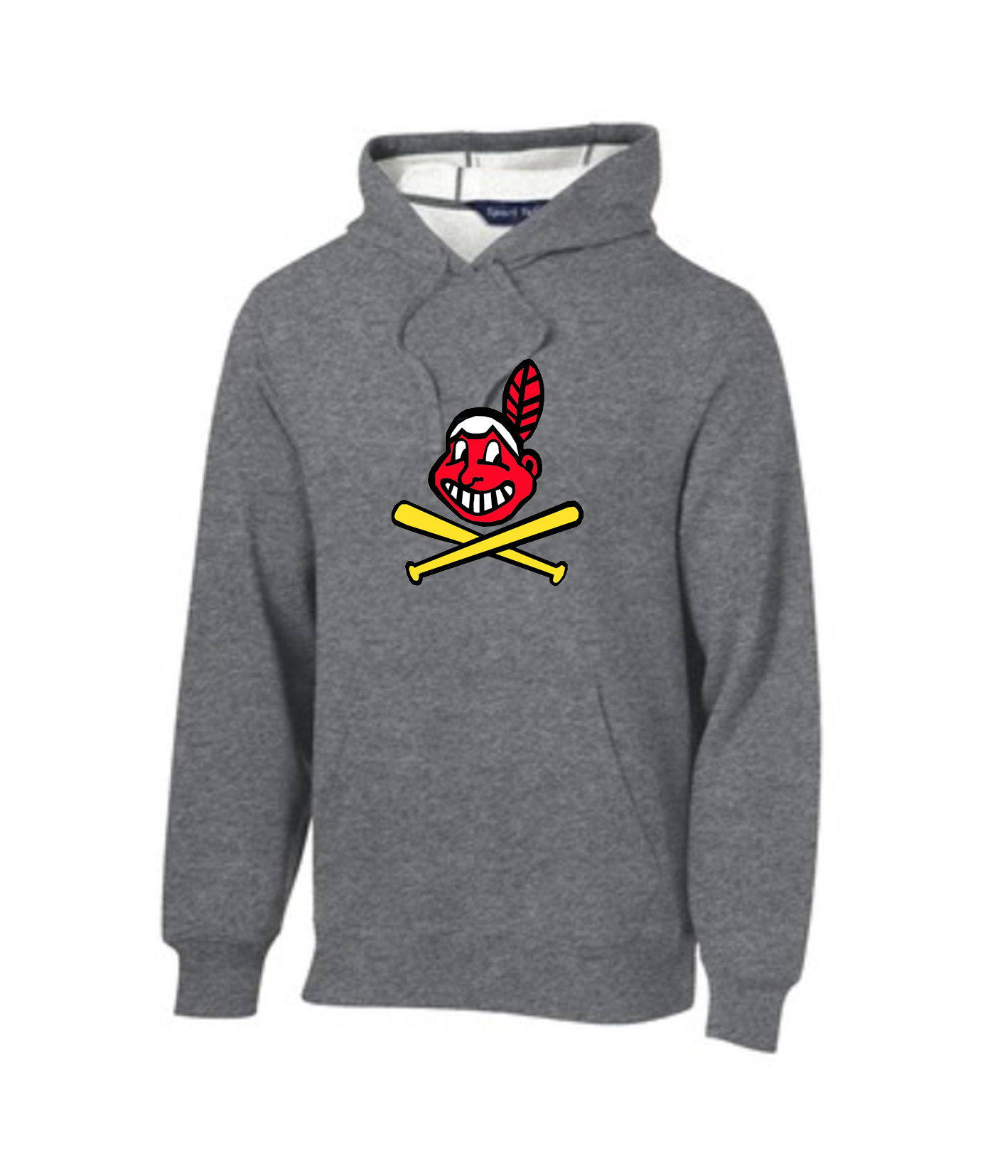 Sport-Tek Grey Pullover Hooded Sweatshirt Color Blackhawk