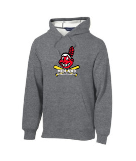 Sport-Tek Grey Pullover Hooded Sweatshirt Color Giant Blackhawk