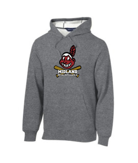 Sport-Tek Grey Pullover Hooded Sweatshirt Glitter Giant Blackhawk