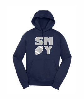 Sport Tek Football Block Navy Hoodie