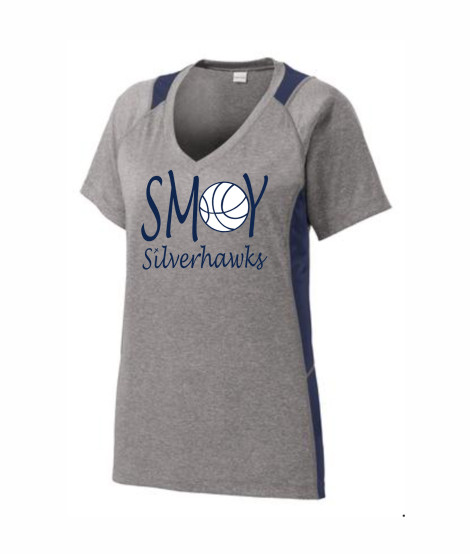 SMOY Ladies Basketball O Lucida Athletic Grey Tee