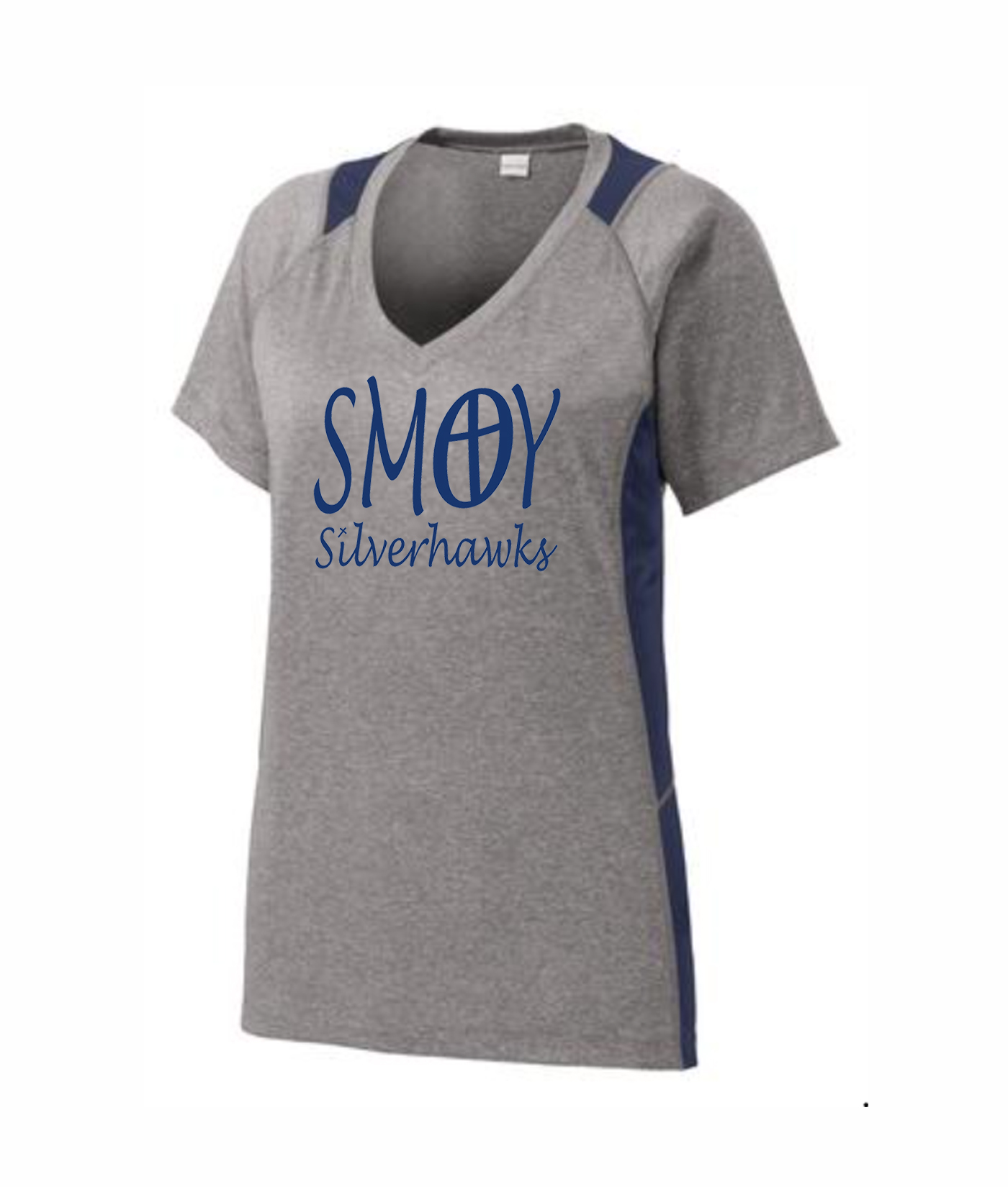 SMOY Ladies Cross O Lucida Athletic Grey Tee