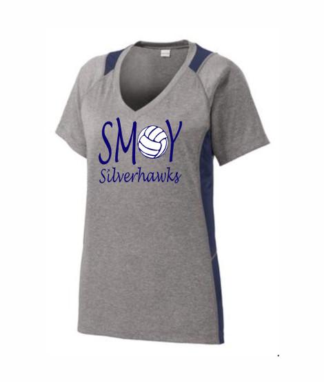 SMOY Ladies Volleyball O Lucida Athletic Grey Tee