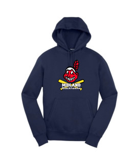 Sport-Tek Navy Pullover Hooded Sweatshirt Giant Blackhawk Color