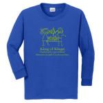KOK Royal Long Sleeve Tshirt Green Glitter Logo