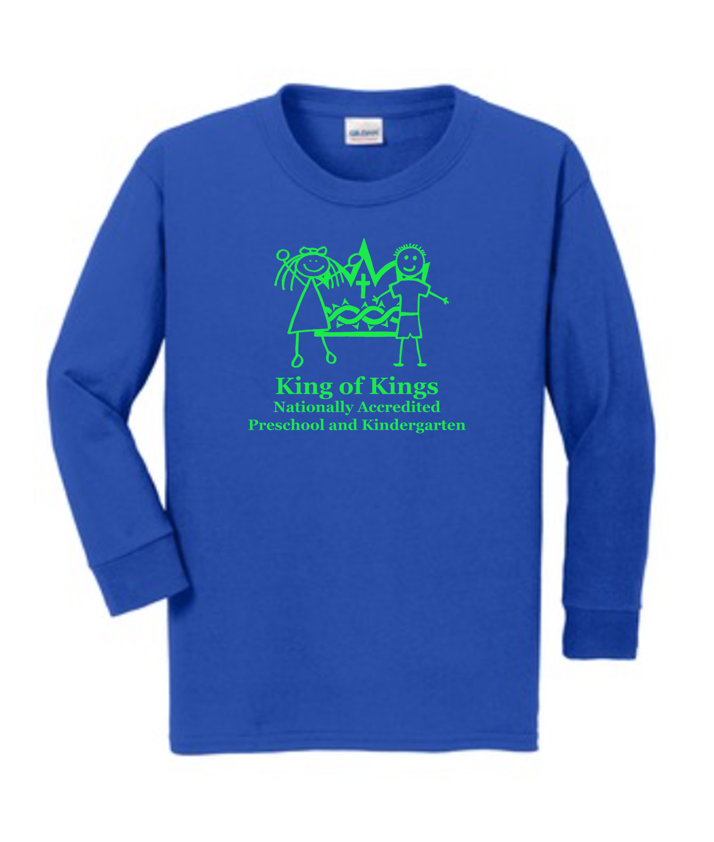 KOK Royal Long Sleeve Tshirt Green Logo