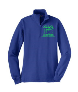 KOK Sport Tek Royal Quarter Zip Green Logo