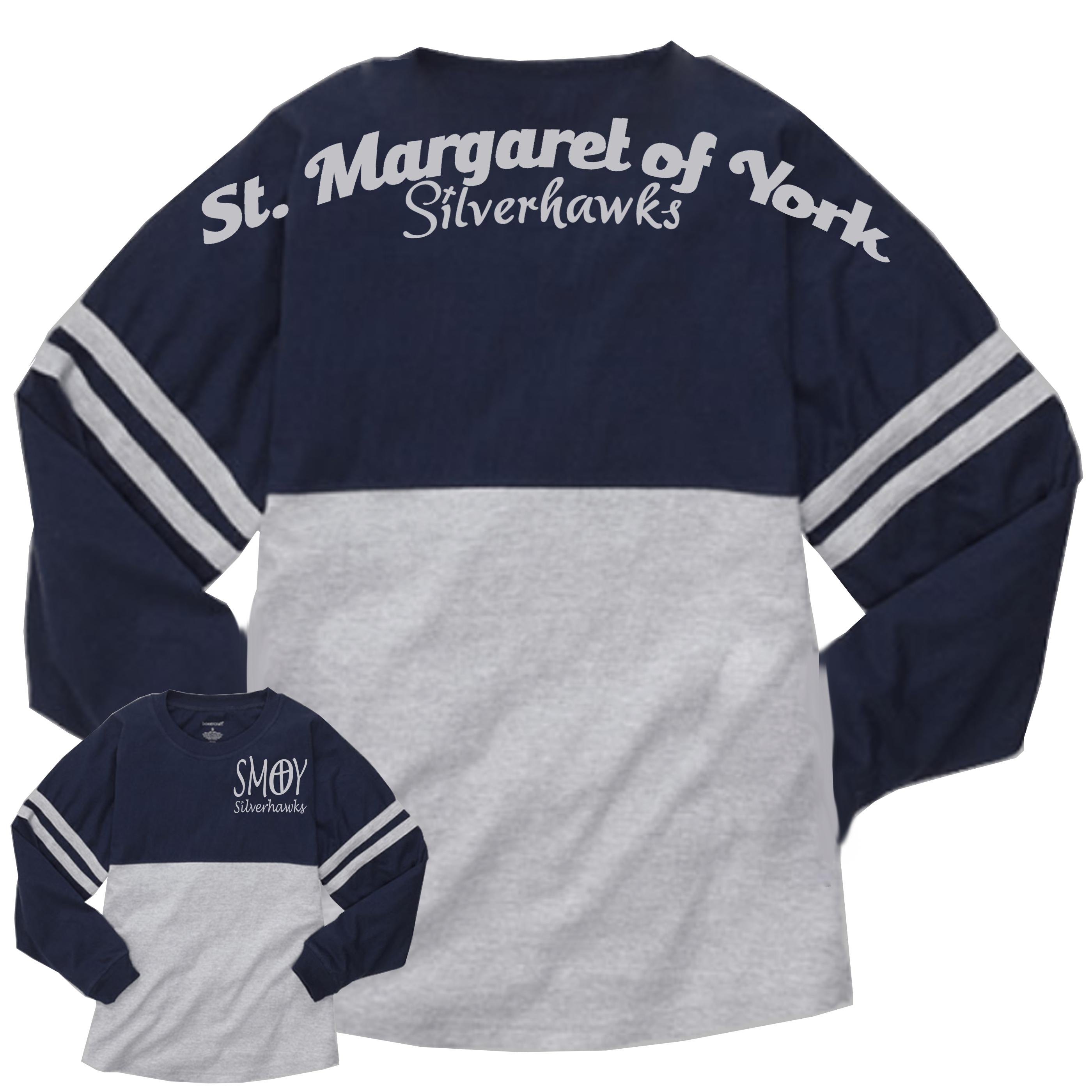 Boxercraft Navy Oxford Pom Jersey Silverhawks