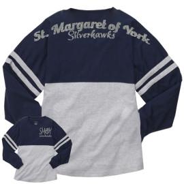 Boxercraft Navy Oxford Pom Jersey Silverhawks Glitter