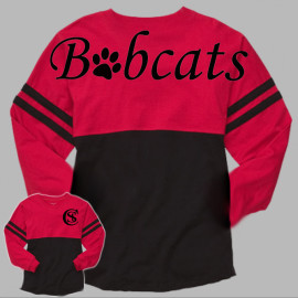Boxercraft Red Black Pom Jersey Bobcats