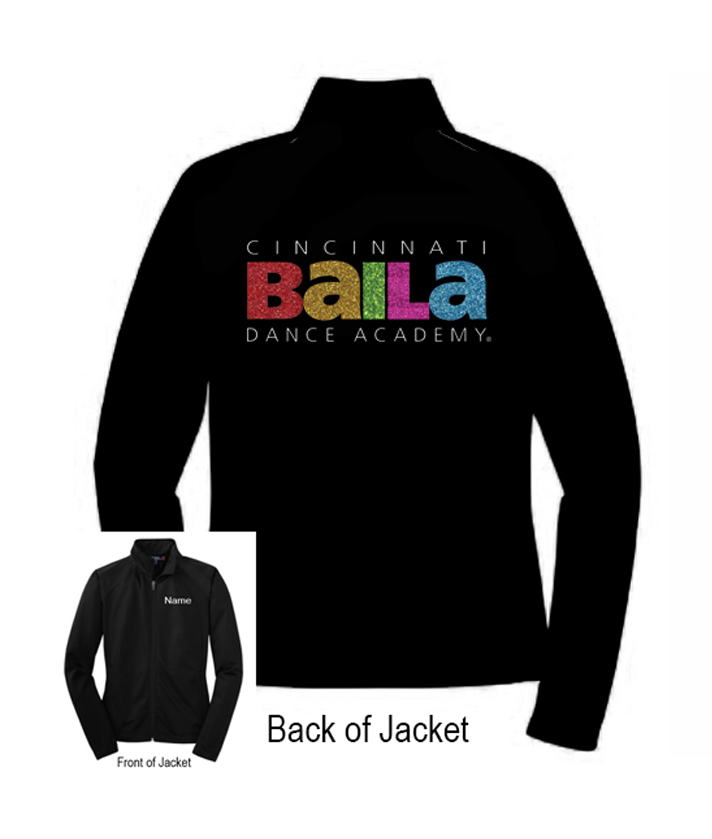 Baila Jacket with Glitter Logo