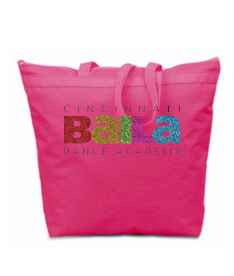 Hot Pink Melody Bag with Multi Color Glitter Logo