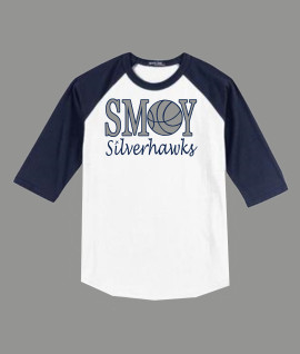 3/4 Sleeve Navy White T-shirt SMOY Basketball