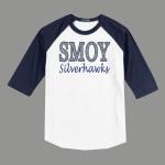 3/4 Sleeve Navy White T-shirt SMOY Original Glitter